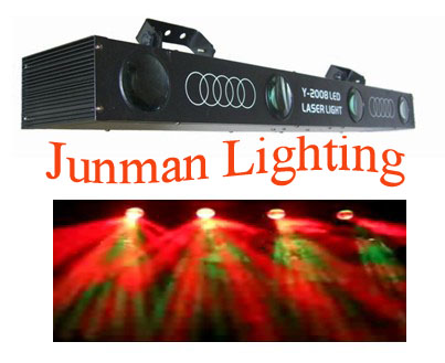 LED 4 Head Laser Light